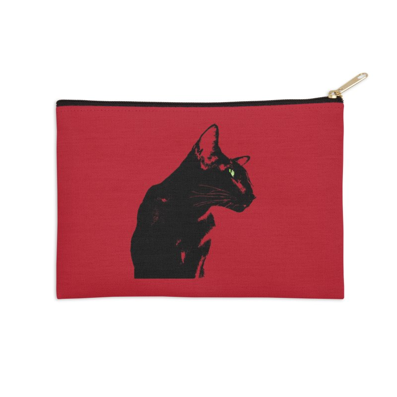 Mr. C. Black - Cherry Accessories Zip Pouch by pikeart's Artist Shop