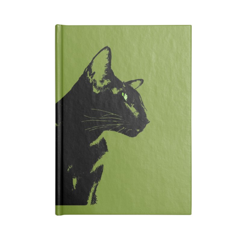 Mr. C. Black - Olive Accessories Lined Journal Notebook by pikeart's Artist Shop