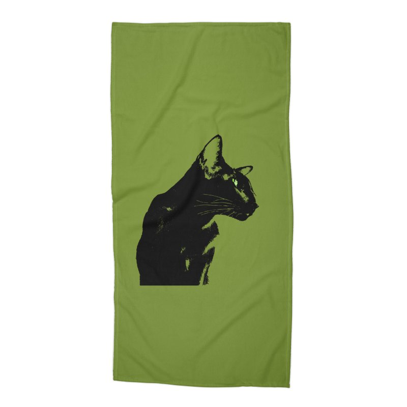 Mr. C. Black - Olive Accessories Beach Towel by pikeart's Artist Shop