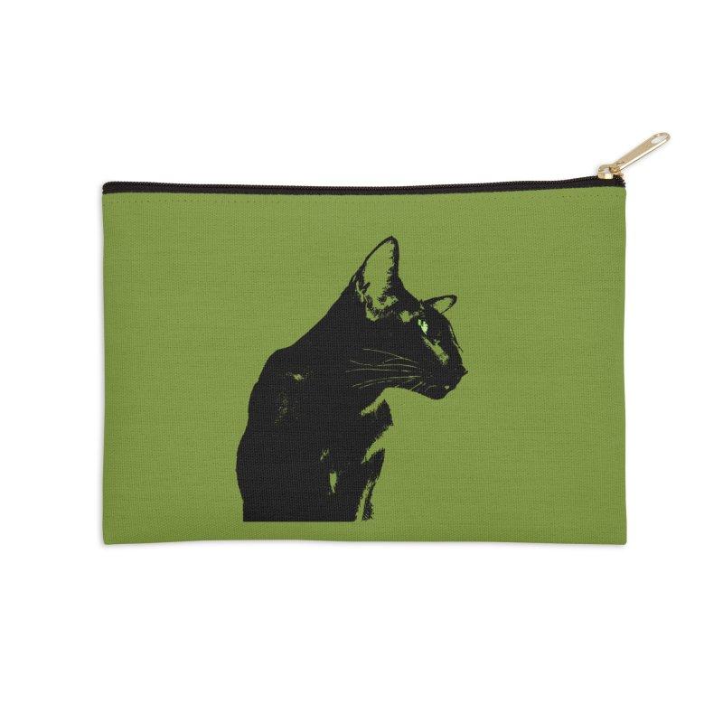 Mr. C. Black - Olive Accessories Zip Pouch by pikeart's Artist Shop