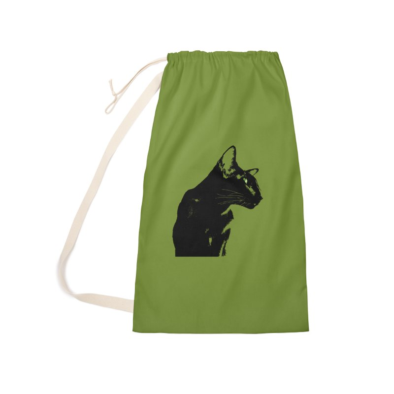 Mr. C. Black - Olive Accessories Laundry Bag Bag by pikeart's Artist Shop