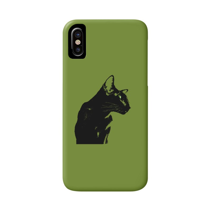Mr. C. Black - Olive in iPhone X Phone Case Slim by pikeart's Artist Shop