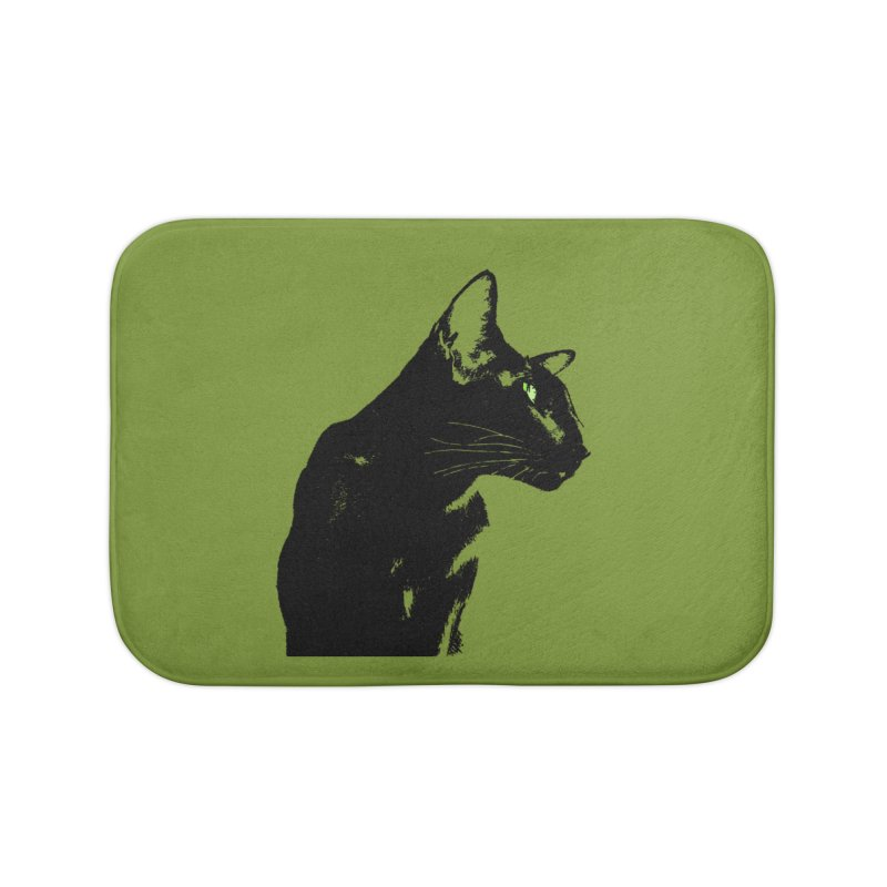 Mr. C. Black - Olive Home Bath Mat by pikeart's Artist Shop