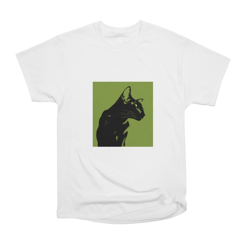 Mr. C. Black - Olive Women's Heavyweight Unisex T-Shirt by pikeart's Artist Shop