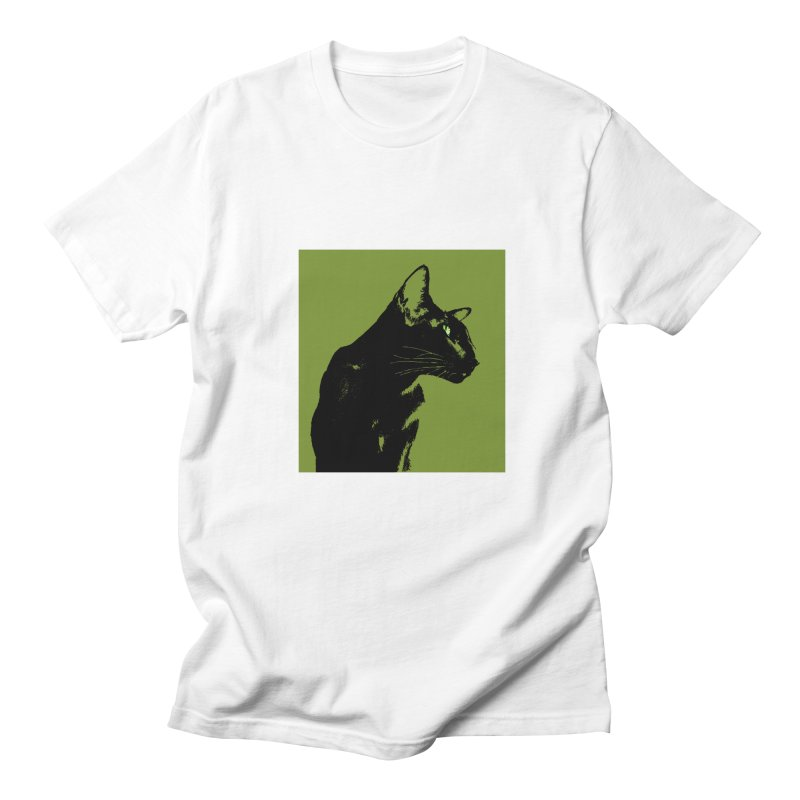 Mr. C. Black - Olive Men's Regular T-Shirt by pikeart's Artist Shop
