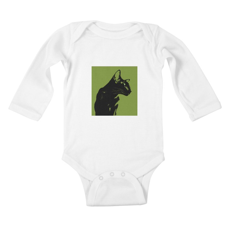Mr. C. Black - Olive Kids Baby Longsleeve Bodysuit by pikeart's Artist Shop