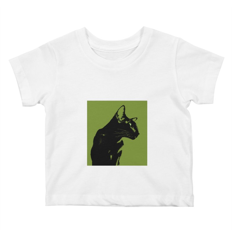Mr. C. Black - Olive Kids Baby T-Shirt by pikeart's Artist Shop