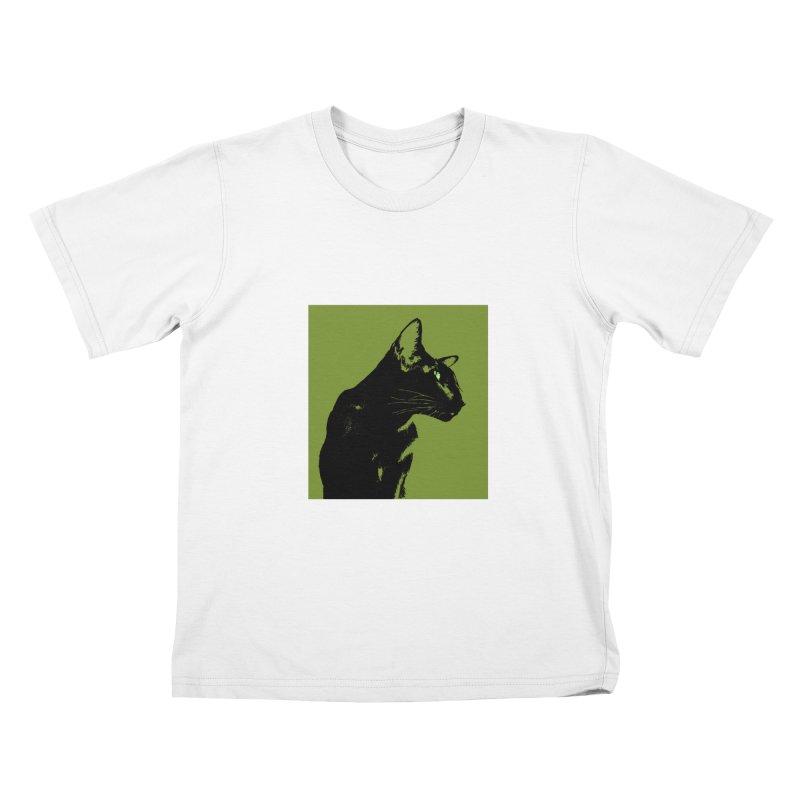 Mr. C. Black - Olive Kids T-Shirt by pikeart's Artist Shop