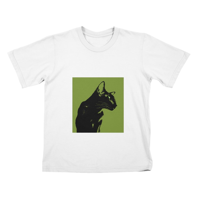Mr. C. Black - Olive Kids T-Shirt by pikeart's Artist Shop