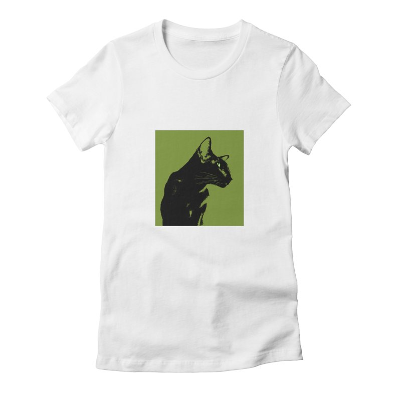 Mr. C. Black - Olive Women's T-Shirt by pikeart's Artist Shop
