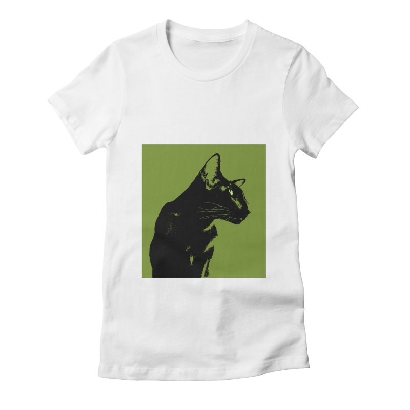 Mr. C. Black - Olive Women's Fitted T-Shirt by pikeart's Artist Shop