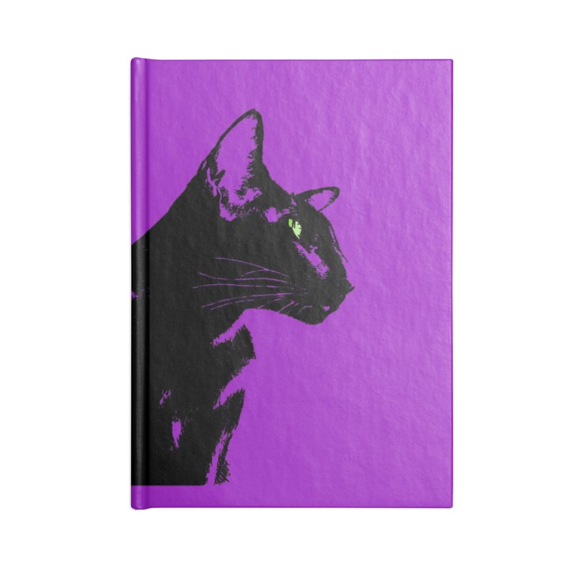 Mr. C. Black - Violet Accessories Lined Journal Notebook by pikeart's Artist Shop