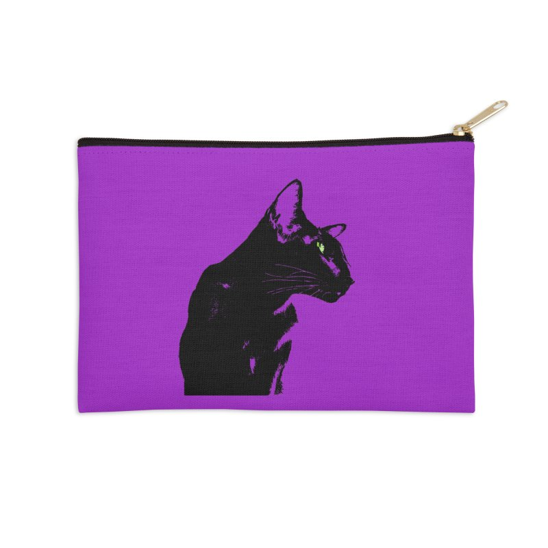 Mr. C. Black - Violet Accessories Zip Pouch by pikeart's Artist Shop