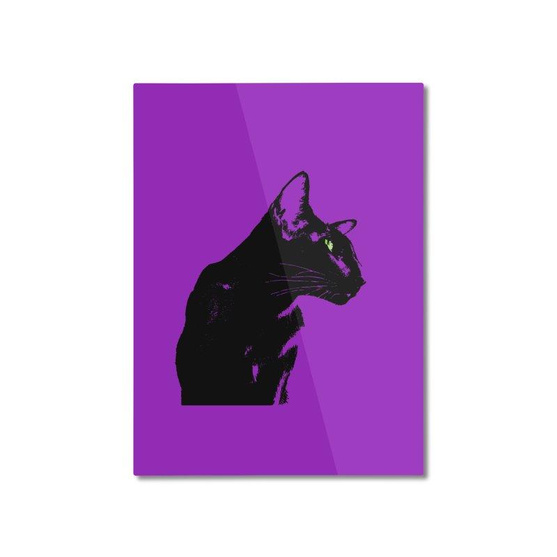 Mr. C. Black - Violet Home Mounted Aluminum Print by pikeart's Artist Shop