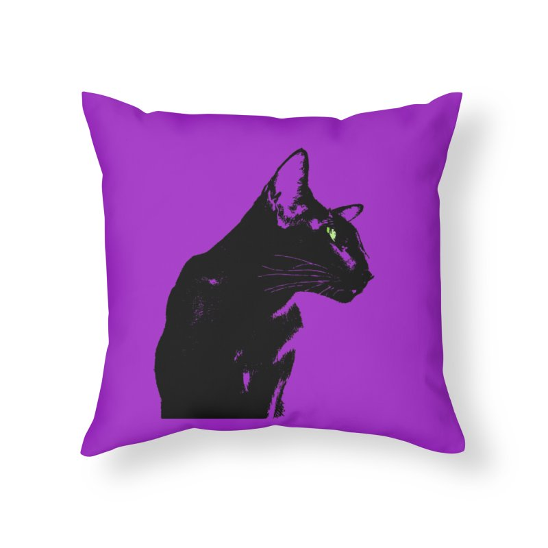 Mr. C. Black - Violet Home Throw Pillow by pikeart's Artist Shop