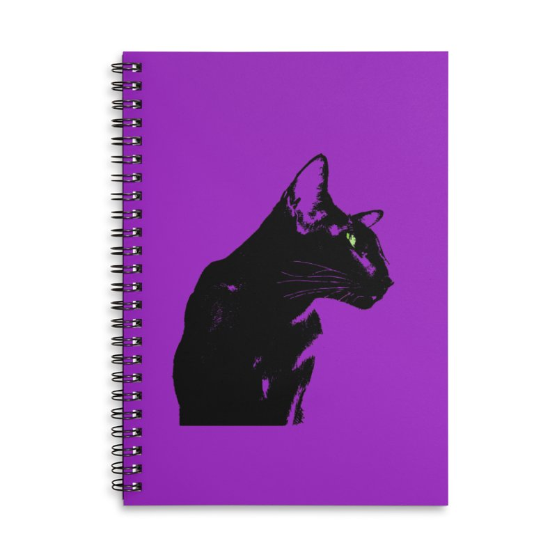 Mr. C. Black - Violet Accessories Lined Spiral Notebook by pikeart's Artist Shop