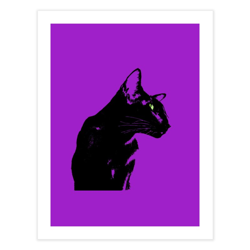 Mr. C. Black - Violet Home Fine Art Print by pikeart's Artist Shop