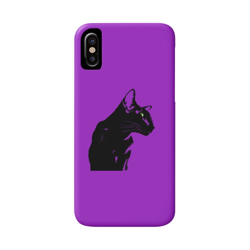 Mr. C. Black - Violet Accessories Phone Case by pikeart's Artist Shop