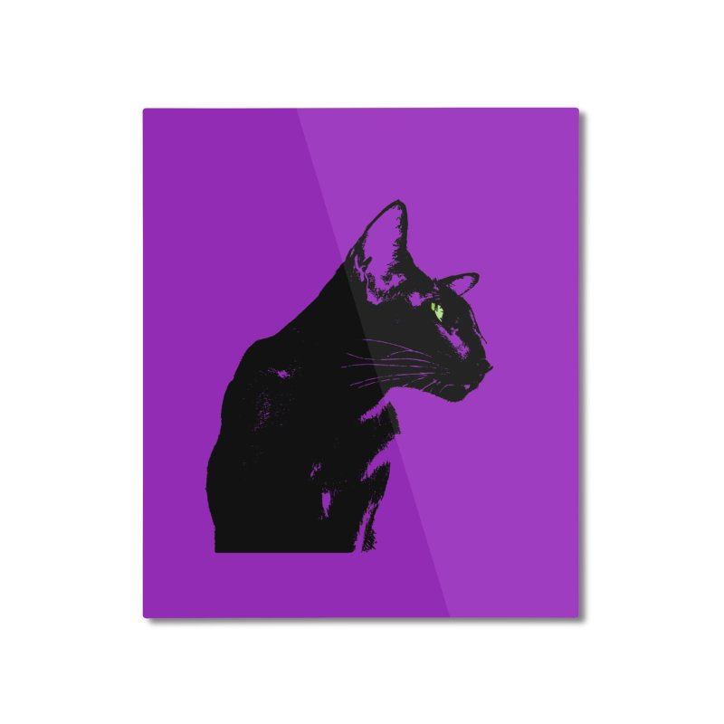 Mr. C. Black - Violet Home Mounted Aluminum Print by pikeart's Artist Shop