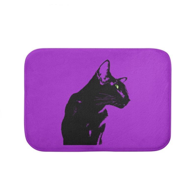 Mr. C. Black - Violet Home Bath Mat by pikeart's Artist Shop