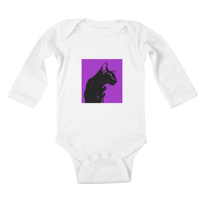 Mr. C. Black - Violet Kids Baby Longsleeve Bodysuit by pikeart's Artist Shop