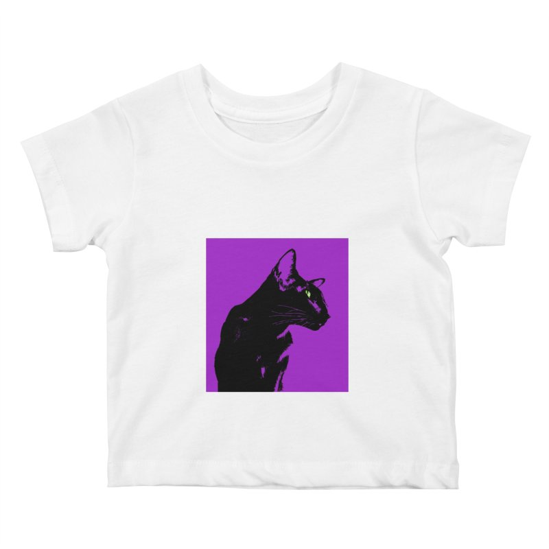 Mr. C. Black - Violet Kids Baby T-Shirt by pikeart's Artist Shop