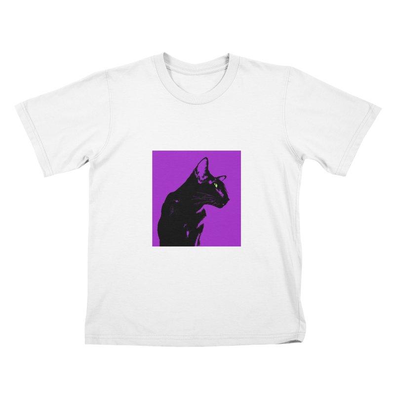 Mr. C. Black - Violet Kids T-Shirt by pikeart's Artist Shop