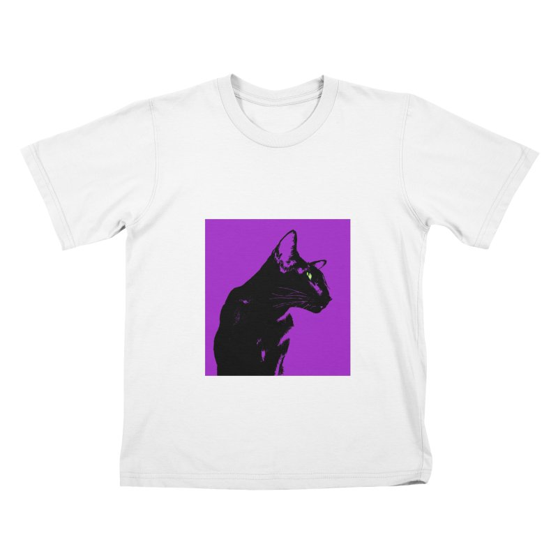 Mr. C. Black - Violet Kids T-Shirt by pikeart's Artist Shop