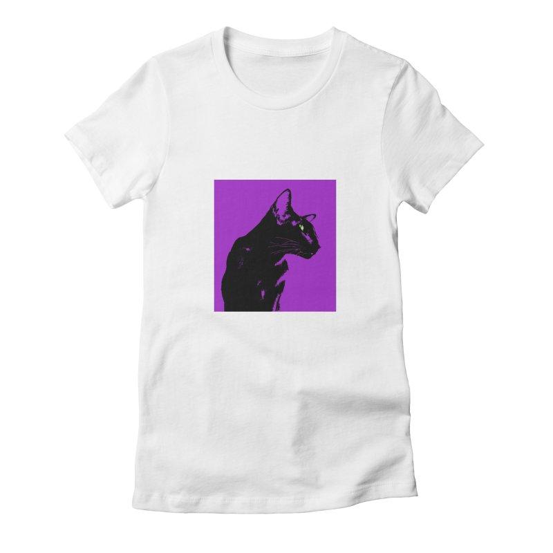 Mr. C. Black - Violet Women's T-Shirt by pikeart's Artist Shop