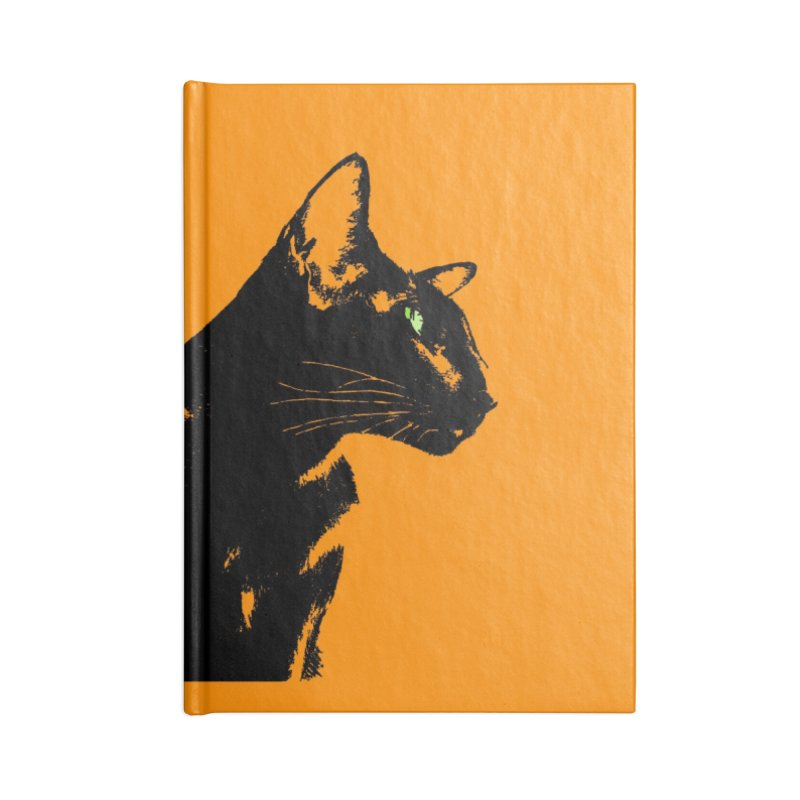 Mr. C. Black - Orange Accessories Lined Journal Notebook by pikeart's Artist Shop
