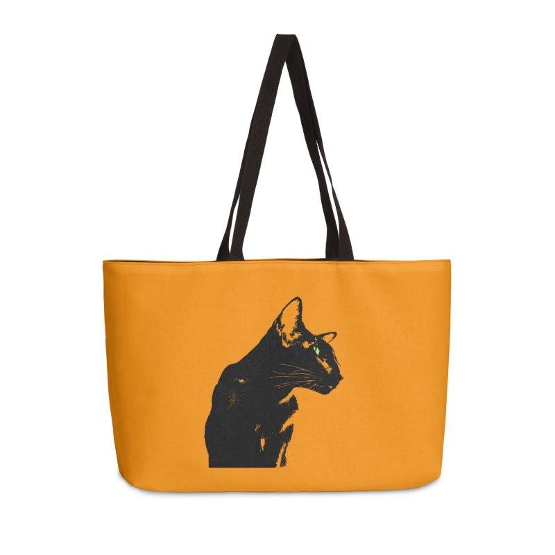 Mr. C. Black - Orange Accessories Weekender Bag Bag by pikeart's Artist Shop