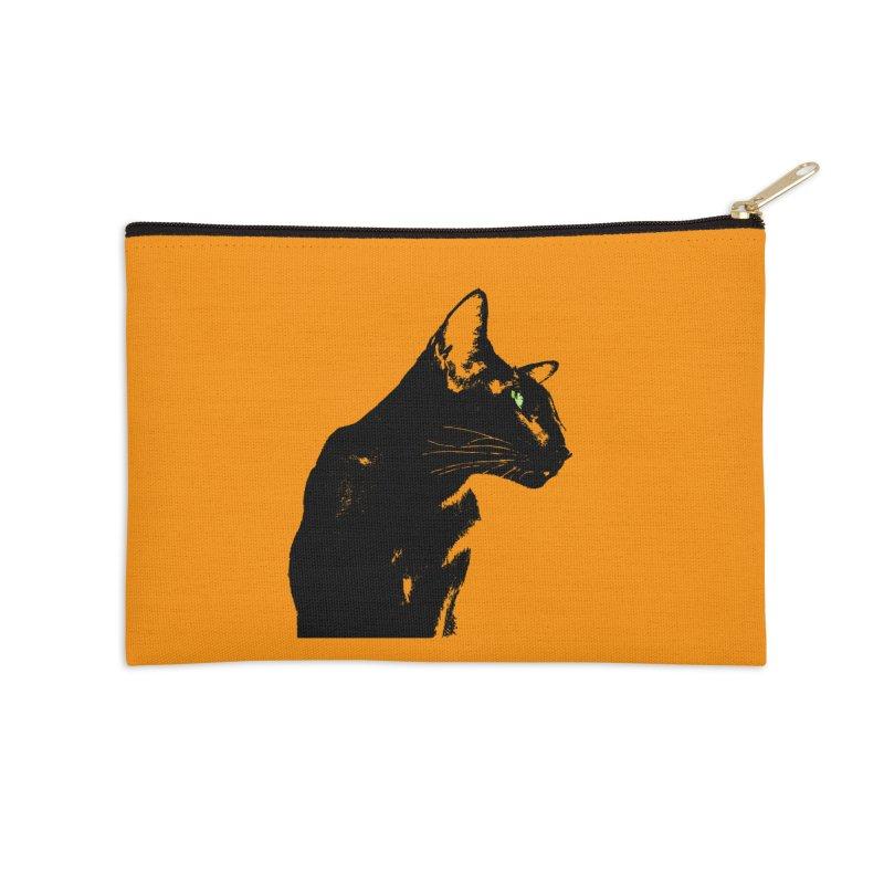 Mr. C. Black - Orange Accessories Zip Pouch by pikeart's Artist Shop