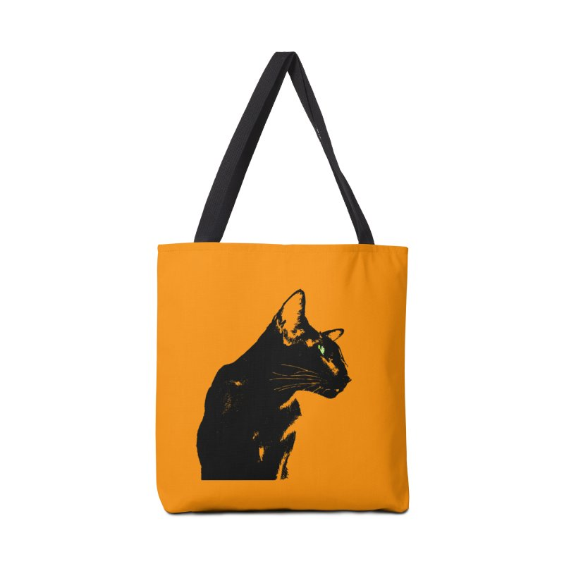 Mr. C. Black - Orange Accessories Tote Bag Bag by pikeart's Artist Shop