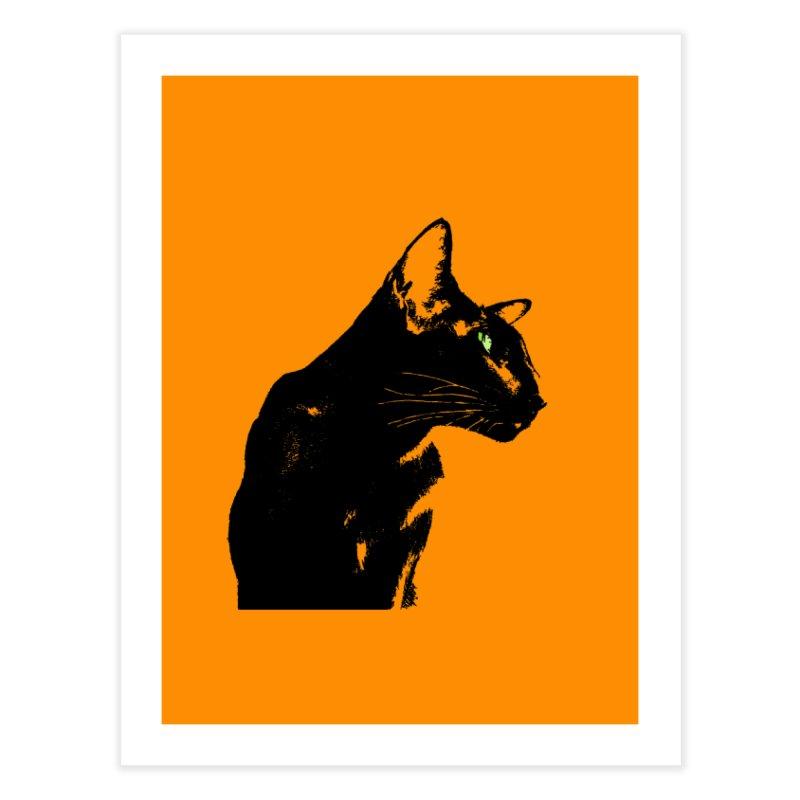 Mr. C. Black - Orange Home Fine Art Print by pikeart's Artist Shop