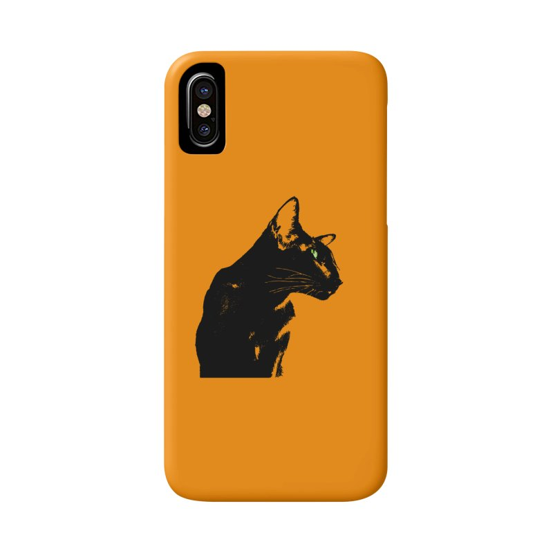 Mr. C. Black - Orange Accessories Phone Case by pikeart's Artist Shop