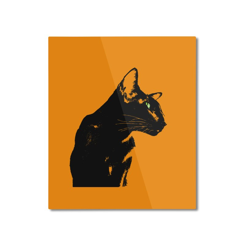 Mr. C. Black - Orange Home Mounted Aluminum Print by pikeart's Artist Shop