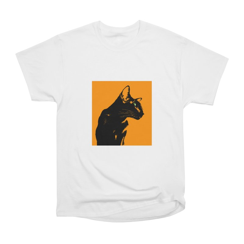 Mr. C. Black - Orange Men's Heavyweight T-Shirt by pikeart's Artist Shop
