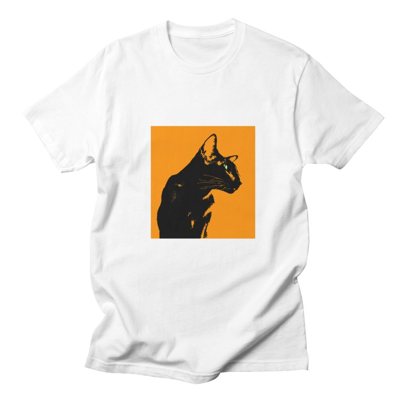 Mr. C. Black - Orange Men's Regular T-Shirt by pikeart's Artist Shop