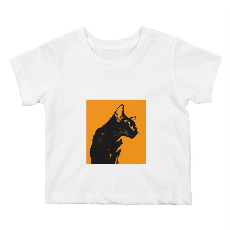 Mr. C. Black - Orange Kids Baby T-Shirt by pikeart's Artist Shop