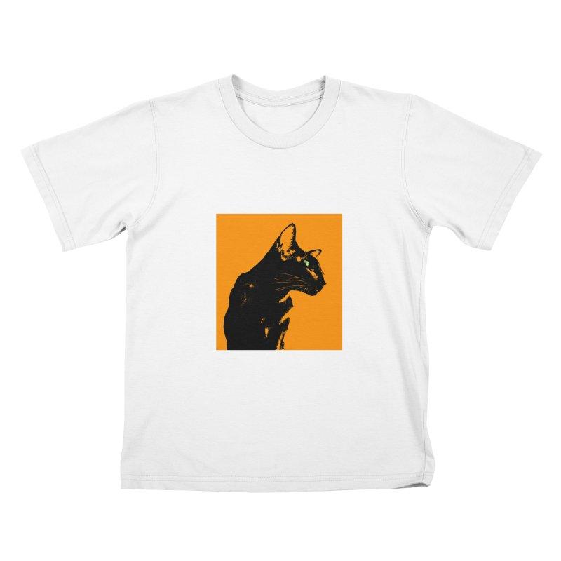 Mr. C. Black - Orange Kids T-Shirt by pikeart's Artist Shop
