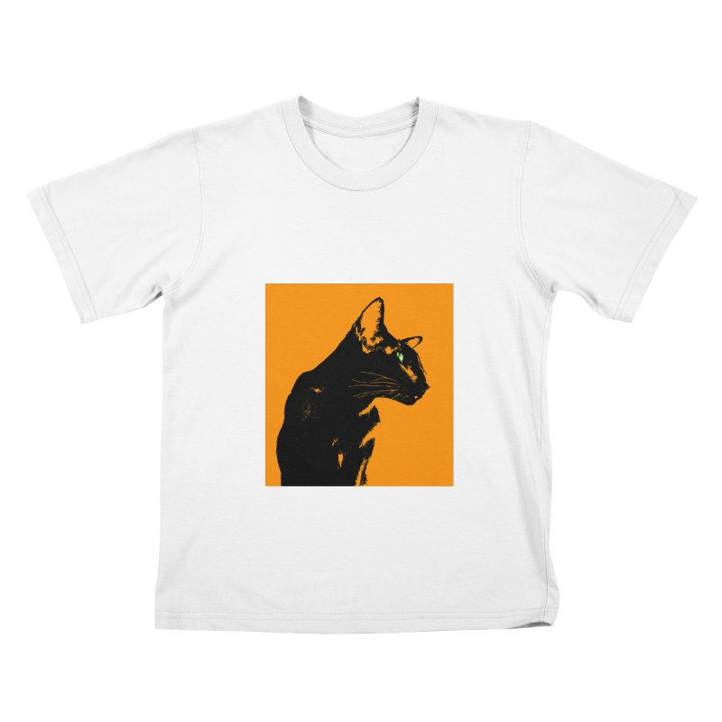 Mr. C. Black - Orange Kids T-Shirt by pikeart's Artist Shop
