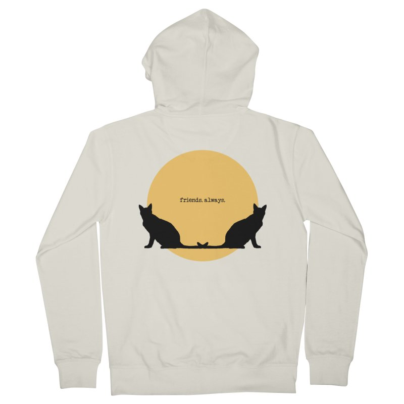 We are - friends. always. Women's French Terry Zip-Up Hoody by pikeart's Artist Shop