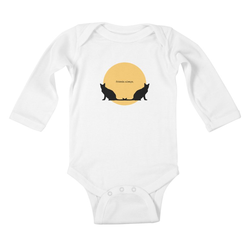 We are - friends. always. Kids Baby Longsleeve Bodysuit by pikeart's Artist Shop