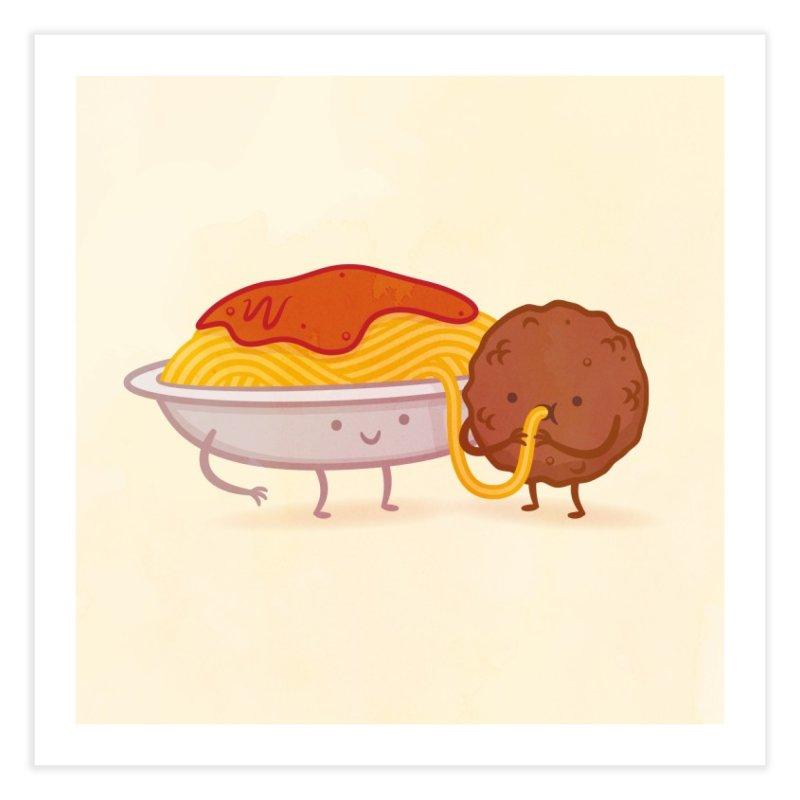 Taste Buds: Spaghetti & Meatball Home Fine Art Print by pilihp's Artist Shop