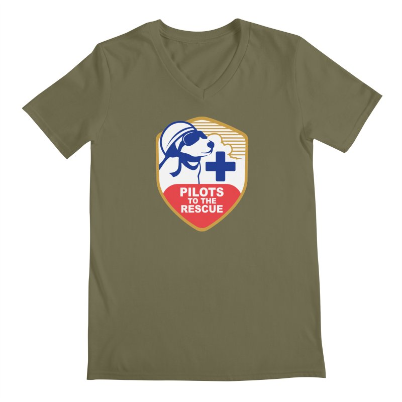 Pilots to the Rescue Men's Regular V-Neck by PilotsToTheRescue's Artist Shop