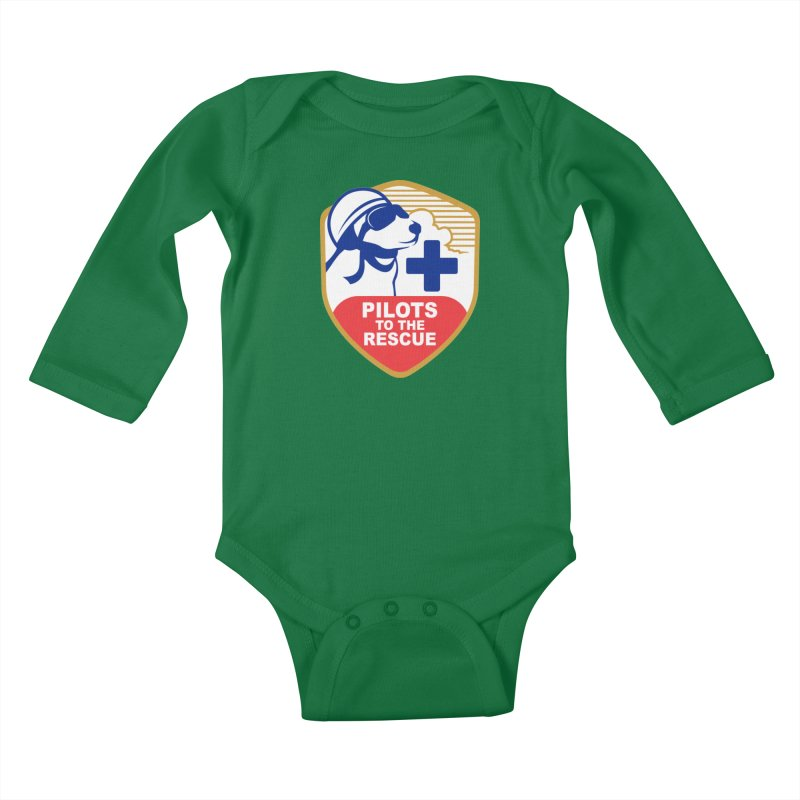 Pilots to the Rescue Kids Baby Longsleeve Bodysuit by PilotsToTheRescue's Artist Shop
