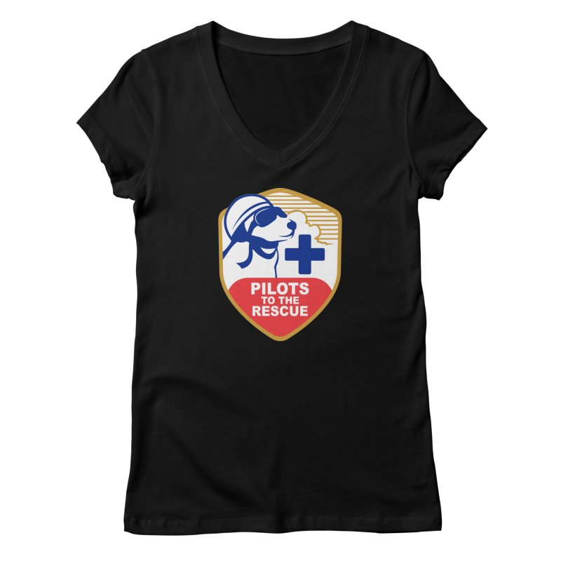Pilots to the Rescue Women's V-Neck by PilotsToTheRescue's Artist Shop