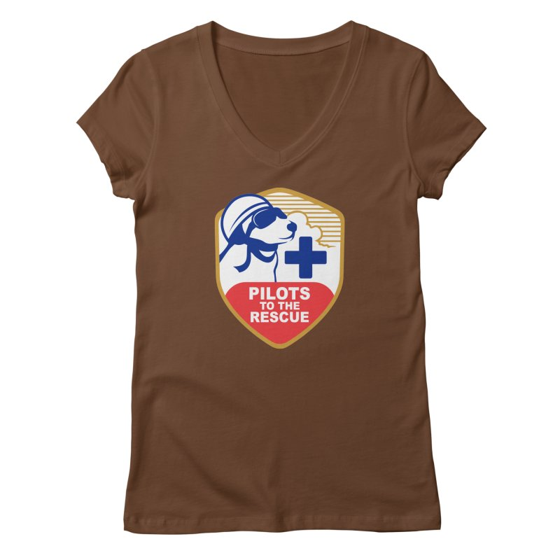 Pilots to the Rescue Women's Regular V-Neck by PilotsToTheRescue's Artist Shop