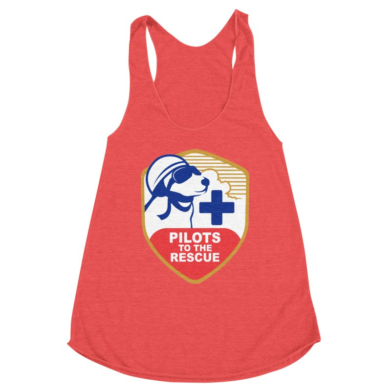 Pilots to the Rescue Women's Racerback Triblend Tank by PilotsToTheRescue's Artist Shop
