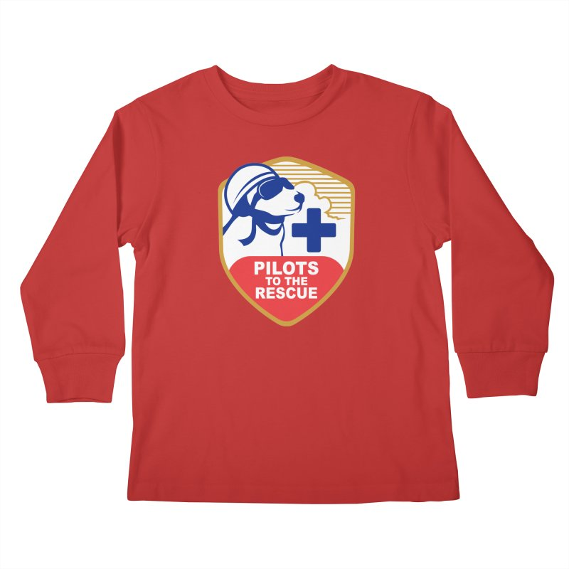 Pilots to the Rescue Kids Longsleeve T-Shirt by PilotsToTheRescue's Artist Shop